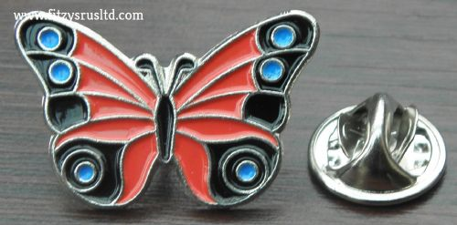 Beautiful Butterfly Metal Lapel / Hat / Cap / Tie Pin Badge / Brooch - Brand New